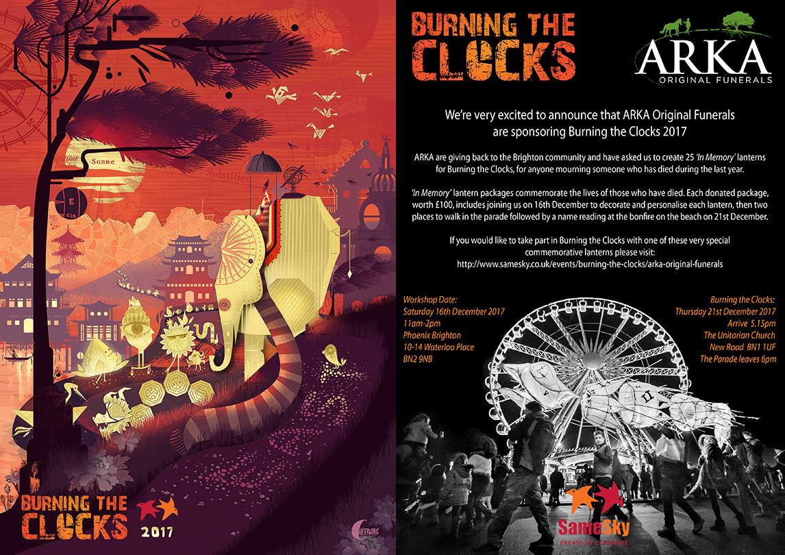 Arka Sponsors Brighton Burning of the Clocks 2017