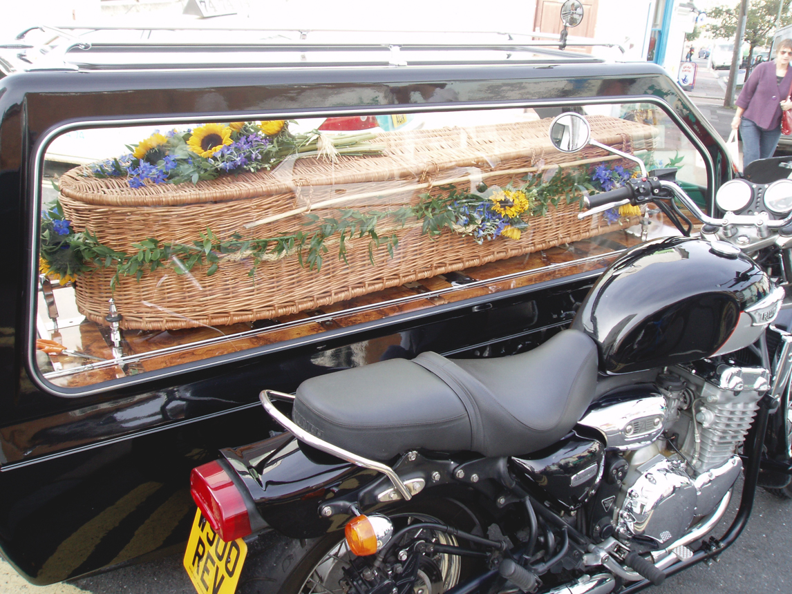 Motorcyle hearse arka funerals